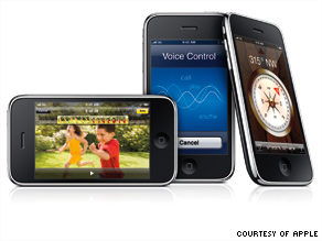 An iPhone 3GS with 16 gigabytes of storage costs $199 with a two-year AT&T contract; a 32G model is $299.