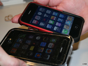 Applications such as Bump allow users to exchange contact information by touching iPhones.