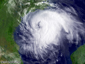Last season's biggest storm, Hurricane Ike, bears down on Texas in September.