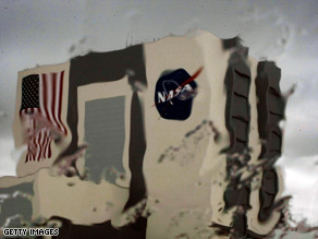 Rain at Kennedy Space Center in Florida canceled plans to land the space shuttle Atlantis on Saturday.