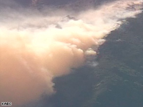 A wildfire in the Santa Barbara, California, area has forced some homeowners to evacuate.