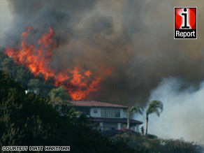 A wildfire in Santa Barbara County, California, is burning high-end homes in the area.