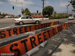 Residents return Saturday to neighborhoods evacauted because of a California wildfire.