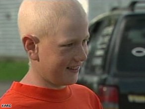 Doctors say Daniel Hauser's lymphoma responded well to a first round of chemotherapy in February.