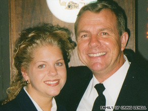 Pilot Craig Lenell is shown with daughter Jennifer Lenell-Small, a former Continental employee.