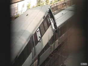 One train was stationary when the crash happened, according to Metro General Manager John Catoe.