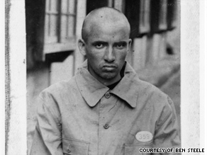 Ben Steele at a Japanese coal mine prison camp in 1944.