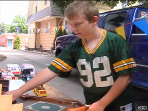Zach McGuire wants to do his part while his family goes through hard times, so he's selling his toys.
