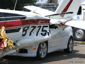 The Piper Comache 260 carrying a married couple landed on the southbound lanes of U.S. Highway 101.