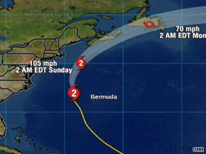 Hurricane Bill didn't hit Bermuda, but coastlines from New England to Newfoundland are still in its path.