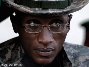 Laurent Nkunda, seen here last November, was reportedly arrested in Rwanda.