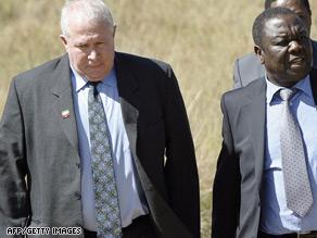 Roy Bennett, left, pictured with MDC leader Morgan Tzvangirai.