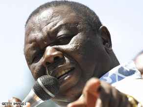 Zimbabwe PM Morgan Tsvangirai said that the country will have to get help from the international community.