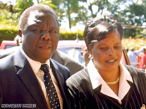 Tsvangirai and his wife Susan were en route to the prime minister's hometown of Buhera.