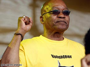 Jacob Zuma, president of the ANC, pictured at a rally in East London, South Africa, last month.
