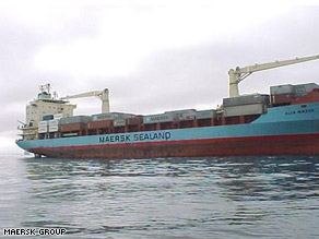 Attackers hijacked the Maersk Alabama, shown here, formerly known as the Alva Maersk.