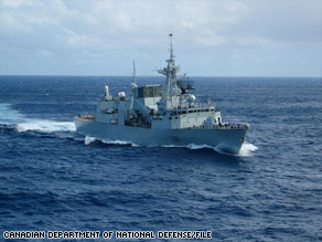 The Canadian navy's HMCS Winnipeg helped foil a pirate attack on a Norwegian tanker Sunday, NATO says.