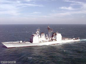 The USS Gettyburg helped stopped a suspected pirate attack, detaining 17 people.