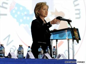 Hillary Clinton urged African nations to trade more within Africa to boost opportunities.