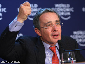 Colombian President Alvaro Uribe vowed the government would protect the Awa Indians from FARC.