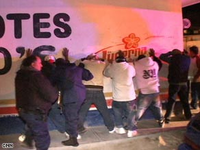 Mexico police round up gang suspects in Juarez, across the border from El Paso, Texas.