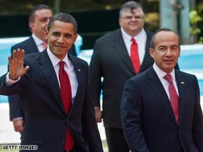 President Obama and Mexican President Felipe Calderón in Mexico City on Thursday.