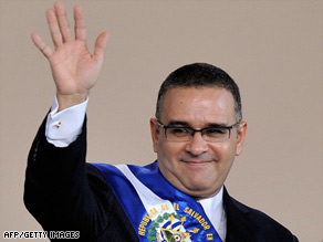 El Salvador's new president, Mauricio Funes, takes power Monday after his inauguration in San Salvador.