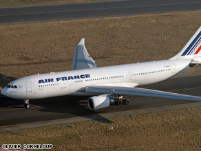 A photo of the Airbus 330 that went missing over the Atlantic early Monday.
