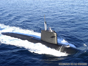 The French navy's Emeraude began patrolling the search area Wednesday morning.