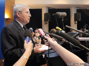 Air France CEO Pierre-Henri Gourgeon, shown at a June 1 news conference, says probing the crash will be tough.