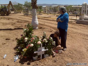 Maria Jesus Coronado Padilla mourns for her 2-year-old daughter, who died in the Hermosillo fire.