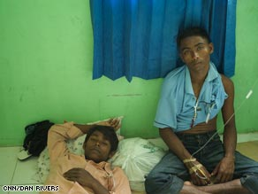 Rohingya refugees get treated in Idi, Indonesia.