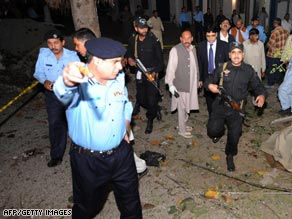 The bombing took place at a police station in Pakistan's capital, Islamabad.
