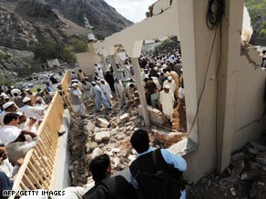 Friday's blast brought the roof of the mosque down on worshippers attending prayers.