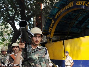 Security is tight for the trial of the only surviving alleged Mumbai terrorist.