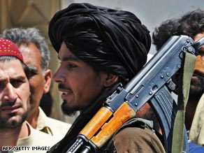 A Taliban fighter in the district of Buner, which is only 96 kilometers from Islamabad.