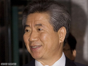 Former South Korean President Roh Moo-hyun served from 2003-2008.