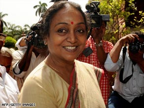 Meira Kumar was nominated by the ruling Congress party.