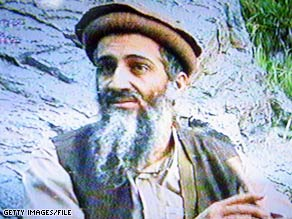 Osama bin Laden is seen in an image taken from a videotape that aired on Al-Jazeera in September 2003.
