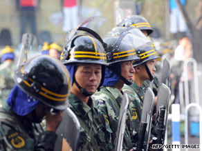 Chinese troops stand guard in Urumqi, July 8, 2009.