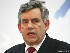 British Prime Minister Gordon Brown, shown at the G-8 summit earlier this week, says troop deaths have hurt him.
