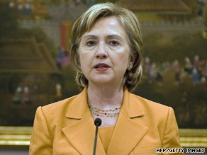 U.S. Secretary of State Hillary Clinton speaks during a press conference in Bangkok on Tuesday.