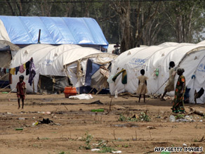 Tamil civilians at Manik Farm refugee camp located on the outskirts of the northern town of Vavuniya.