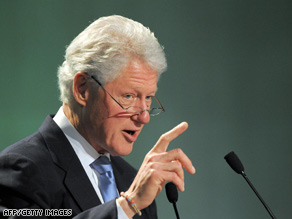 Former U.S. President Bill Clinton is shown at aN environmental summit in Seoul, South Korea, in May.