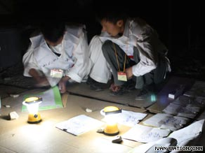 The count began under the poor light created from battery-powered lanterns in Bamiyan province.