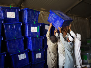 Ballots continue to be counted in Afghanistan's presidential election.