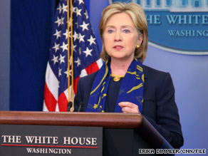 Hillary Clinton lauds the president's patience and persistence while deciding about troop strength.