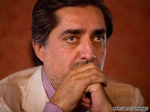 Abdullah Abdullah was at times emotional on Sunday in announcing in Kabul that he was dropping out of a runoff.