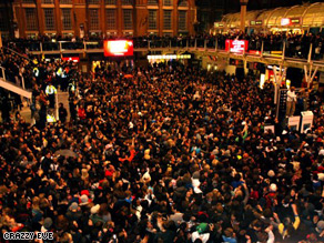 Thousands of people attended Friday's silent disco.