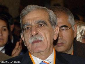 Ahmet Turk began his speech in Turkish before switching to Kurdish.